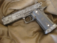 Custom Design Skull Camo Sti 2011 pistol_2