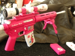 Tactical Ar-15 in pink and white_9